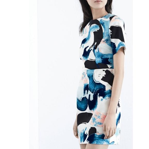 Warehouse Dresses & Skirts - Warehouse Brushstroke Print Dress